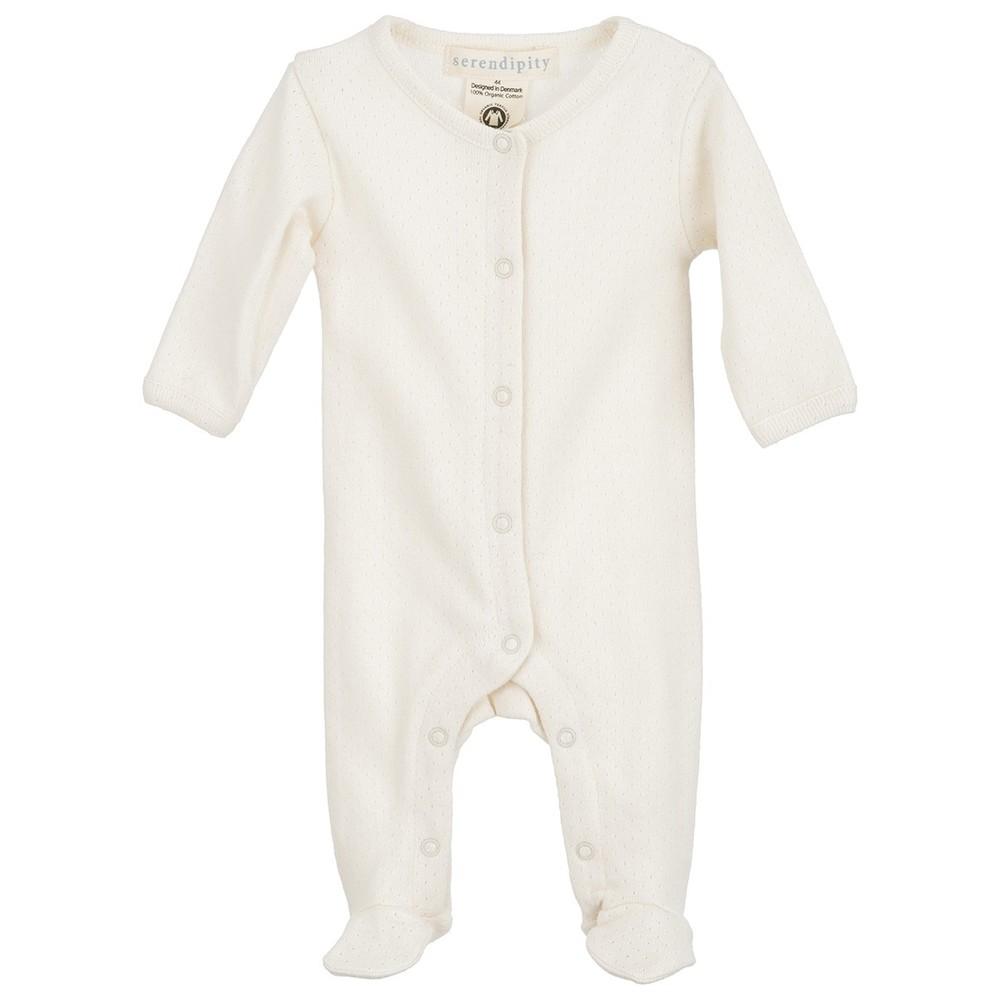 Serendipity Newborn Rib Suit Pointelle