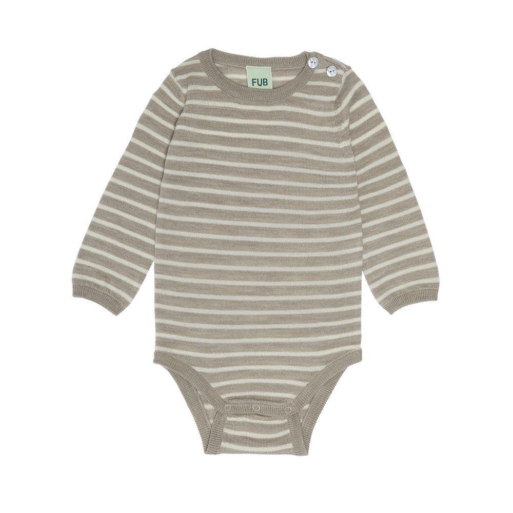 Fub Baby Body Beige Melange / Ecru