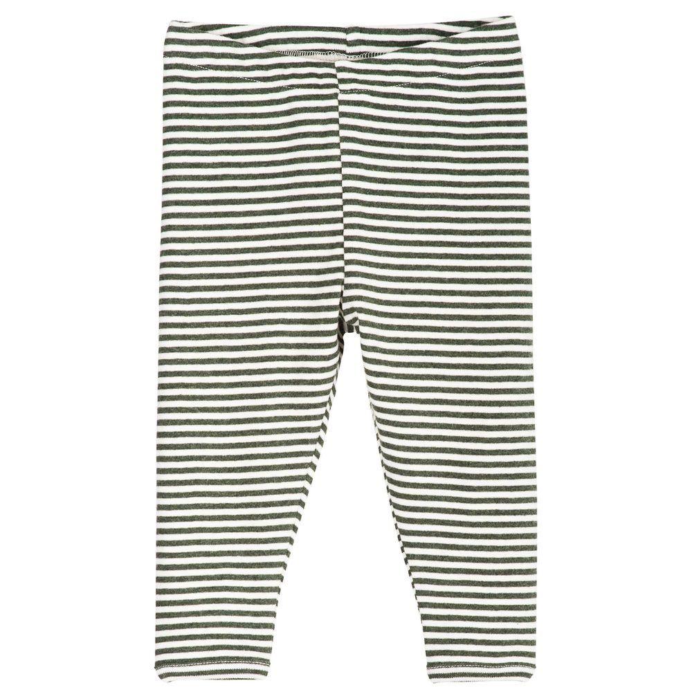 Serendipity Baby  Leggings Stripe Pine / Offwhite