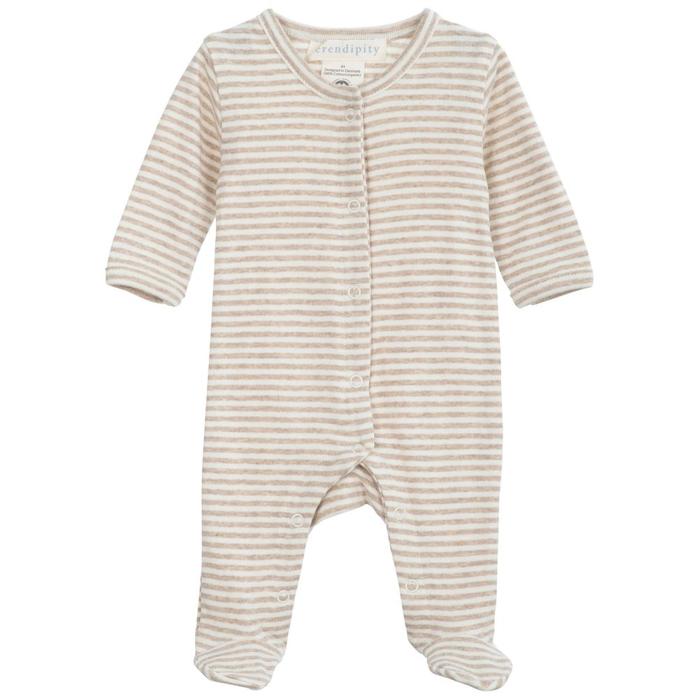Serendipity Newborn Stripe Suit Oat / Offwhite